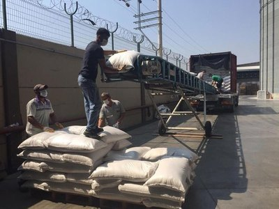 Turquía recibió primera tanda de 10 toneladas de arroz paraguayo