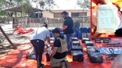 Senad incauta 300 kilos de cocaína en el Chaco