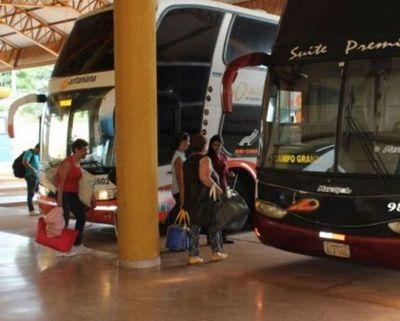 Recuerdan que no habrá buses de larga distancia este fin de semana