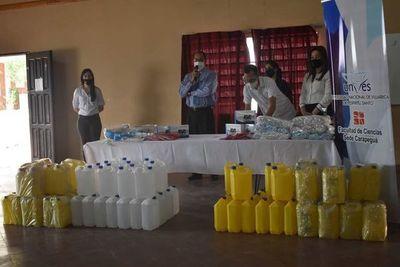 Donan equipos de bioseguridad e insumos a hospital y USF de Carapeguá