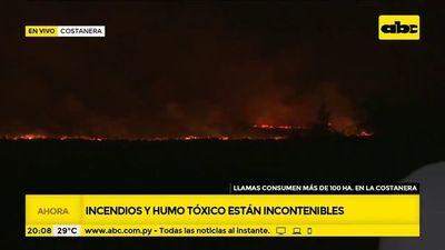 Siguen incontrolables quemas en zona de la Bahía