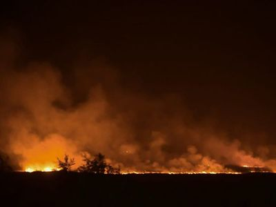 Nuevo incendio en zona de Banco San Miguel