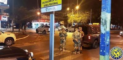 Covid: Operativo militar y policial en Luque •