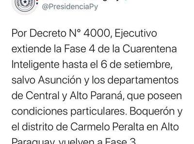 Gran Asunción se mantiene en Fase 3