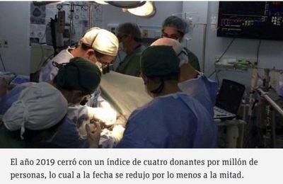 Donación de órganos se redujo entre 50% y 60% a causa de la pandemia