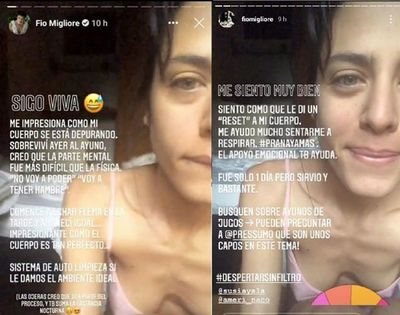 """Fio Migliore sorprende con nuevo método de """"depuración"""" y es tendencia"""