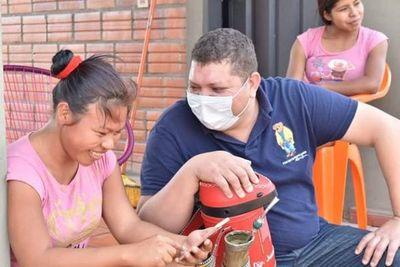 El Diputado de la gente verificó obras en Zanja Pytã