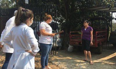 Visitan a vecinos para relevar datos sobre la situación de salud durante pandemia