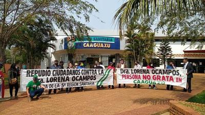 Siguen escrachando a Lorena Ocampos en Caaguazú – Prensa 5