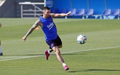 Messi no acude al primer entrenamiento del Barcelona