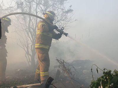 """Incendio de """"gran magnitud"""" en zona de Cateura"""