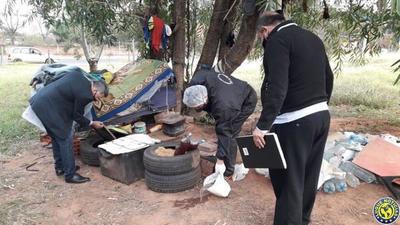 """Desmantelan """"aguantadero"""" de limpiavidrios en Luque •"""