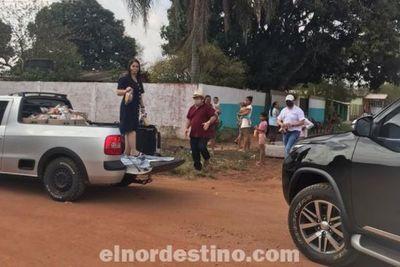 Presidente Guillén acompañó en Zanja Pytã al equipo de Perla Franco en acción solidaria durante domingo de clásico