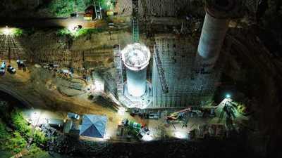 Con turnos de 24 horas avanza construcción del Puente de la Integración