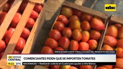 Comerciantes piden que se importen los tomates