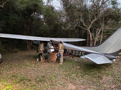 SENAD halló avioneta oculta en un establecimiento rural de General Artigas, Itapúa