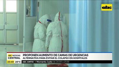 Proponen aumento de camas de urgencias para evitar colapso