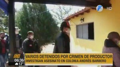 Una decena de detenidos por asesinato de productor en San Pedro
