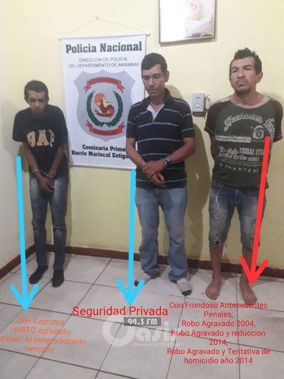 Hurtaron hasta heladera y fueron detenidos por la Policía en Pedro Juan