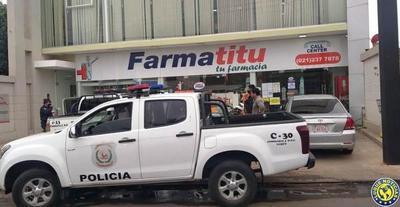 Solitario ladrón cae tras asaltar farmacia en Luque •