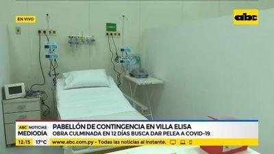 Pabellón de contigencia de Villa Elisa, culminado en 12 días