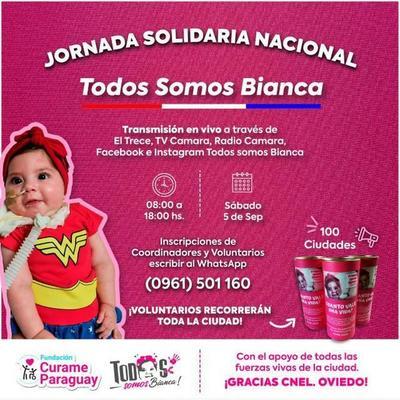"Maratón ""Todos Somos Bianca"" será este sábado – Prensa 5"