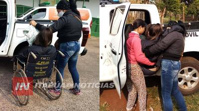 POLICÍAS REALIZAN TRASLADO DE ENFERMOS ANTE CESE DE SERVICIO DE BOMBEROS.