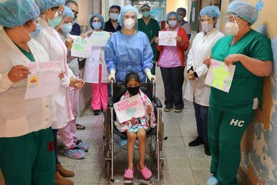 Clínicas: Paciente pediátrica con Covid-19 recibe alta hospitalaria