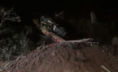 Puente Integración: Vuelco de maquinaria deja un obrero herido