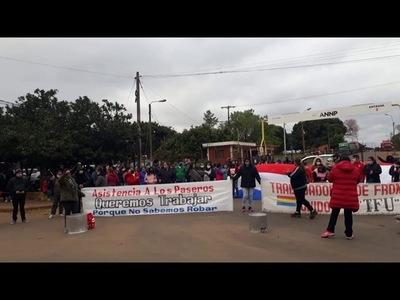 TRABAJADORES DE FRONTERA RECLAMAN ASISTENCIA DEL GOBIERNO