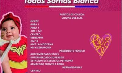 Alto Paraná se suma a colecta nacional a favor de la pequeña Bianca