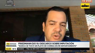 Rodolfo Friedmann dio su descargo sobre imputación