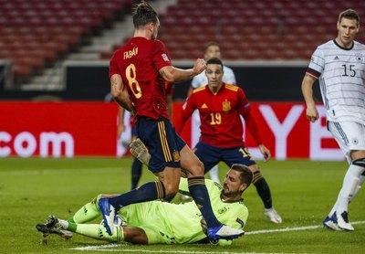 Alemania y España empatan, Ucrania vence a Suiza en la Liga de Naciones