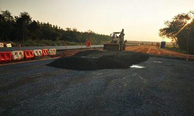 Obras de duplicación suman 40 km de pavimentación nueva en ruta 2