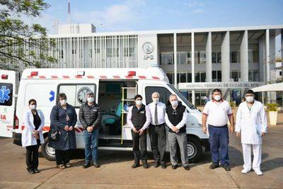 Entregan ambulancia con UTI para lucha contra el Covid-19 en el Alto Paraná