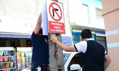 Colocan señalizaciones en calles del Mercado – Diario TNPRESS