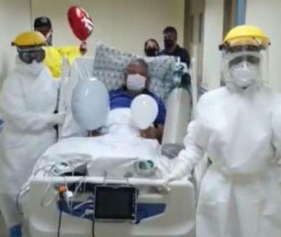 Tras 11 días de permanecer en UTI, sexagenario vence al coronavirus