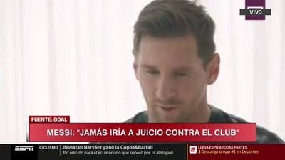 HOY / Messi seguirá en el Barcelona porque no quiere ir a juicio