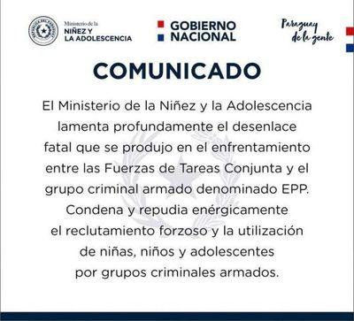 Ministerio de la Niñez investigará reclutamiento de menores por grupo terrorista EPP