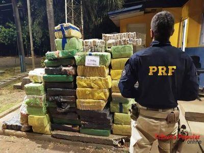 Caen dos paraguayos con 1.193 kilos de marihuana en Brasil