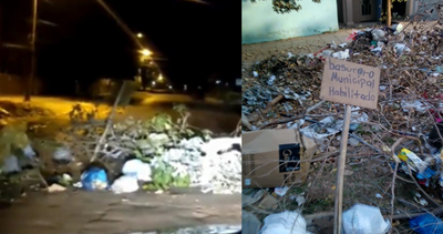 Coronel Oviedo: Inadaptados arrojaron basura frente al cementerio