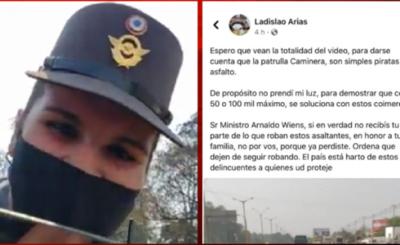 """Inspectora de la Caminera y conductor serán investigados por """"coimear"""""""
