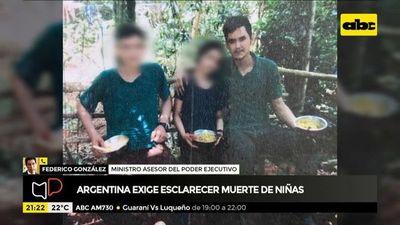 Argentina exige esclarecer muerte de niñas en enfrentamiento