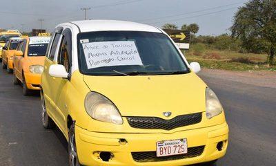 Conflicto con motivación política entre taxistas