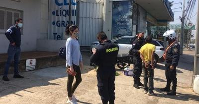 Hombre aprehendido tras robar celular