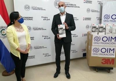 Organización Internacional para Migraciones donó 3.000 tapabocas N95 a Salud Pública