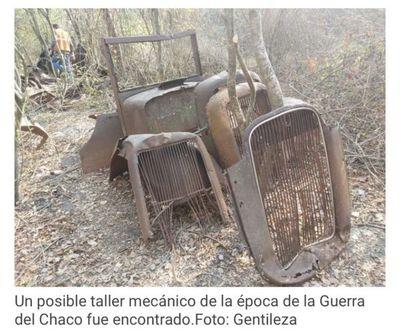 Encuentran camiones y otros supuestos vestigios de la Guerra del Chaco