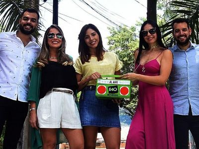 Integrantes de la  E40 comparten entusiasmo por el estreno en tevé