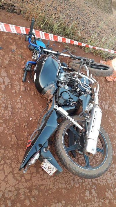 Motociclista muere en choque en Domingo Martínez de Irala