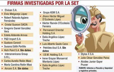 La SET detecta más firmas que están ligadas a Dalia con millonaria evasión